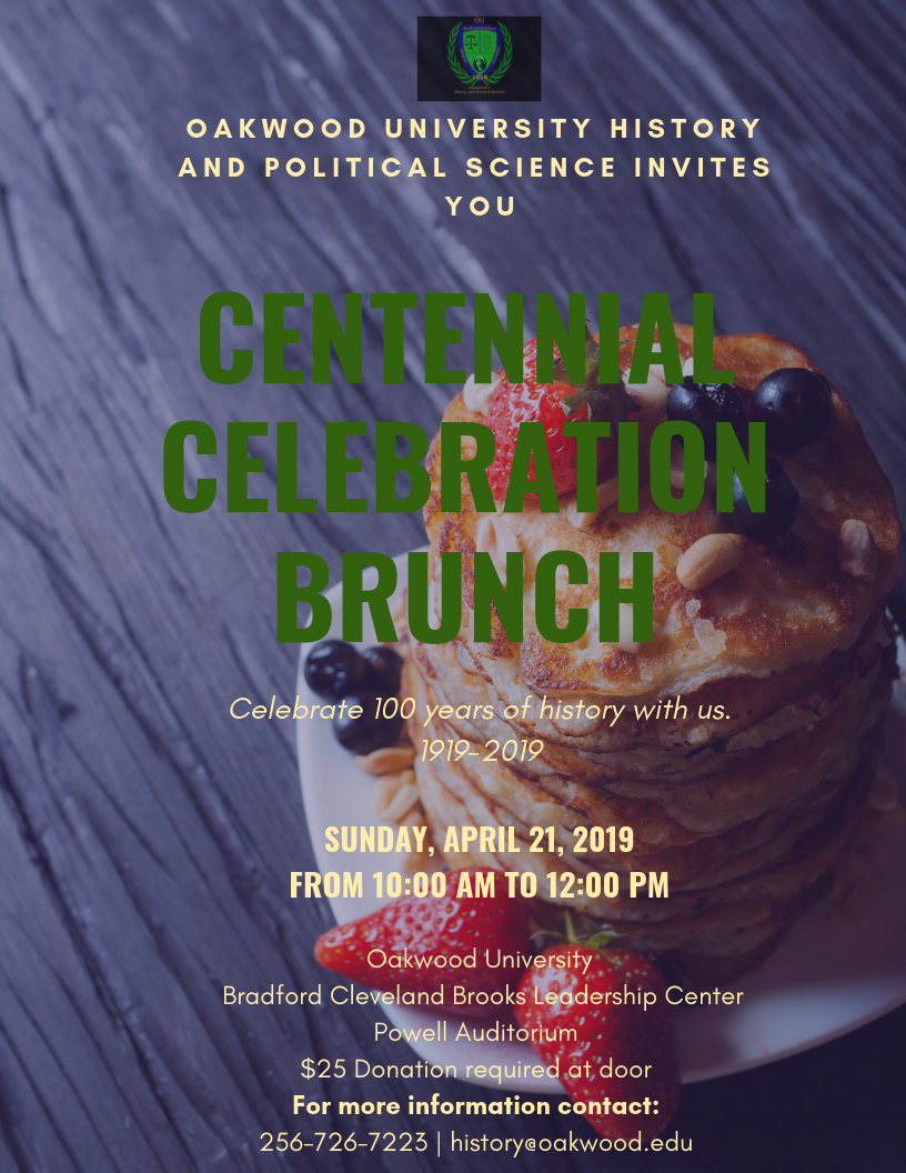 Oakwood University History and Political Science Invites you